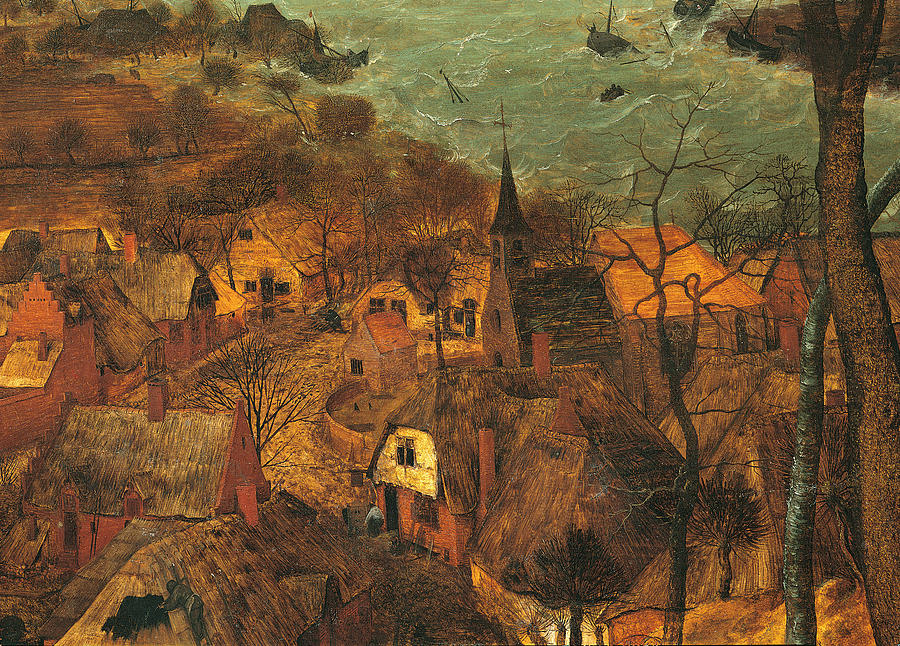 The Gloomy Day , By Pieter Bruegel Painting