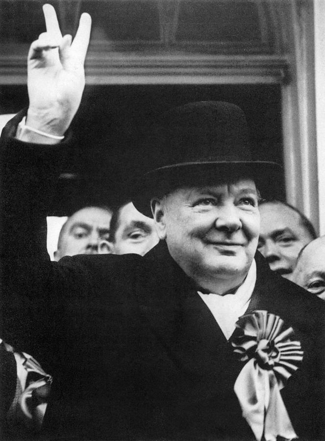 1940s Photograph - Winston Churchill by Granger