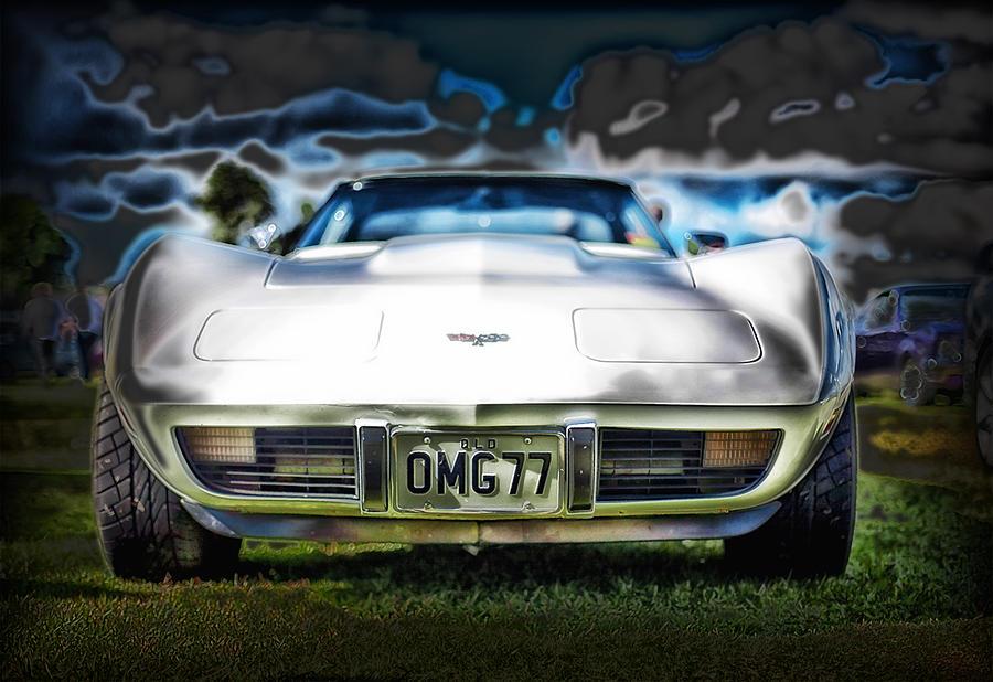 77 Corvette Photograph