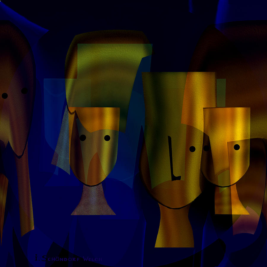 778 - Heads Archaic Digital Art  - 778 - Heads Archaic Fine Art Print