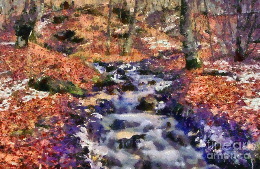 Abruzzo National Park Painting