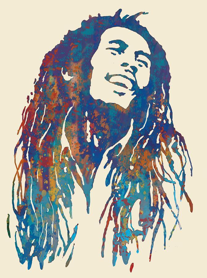 Bob Marley Pop Art Painting