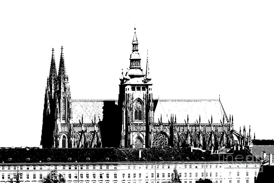 Cathedral Of St Vitus Drawing