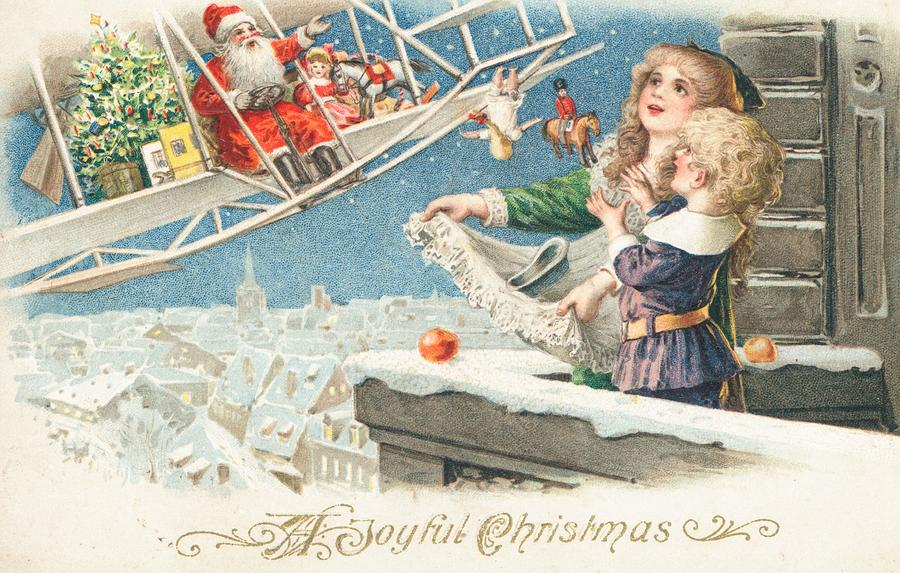 Christmas Painting - Christmas Card by American School