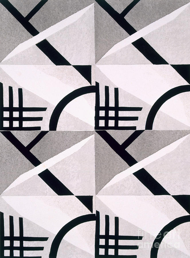 Monochrome Painting - Design From Nouvelles Compositions Decoratives by Serge Gladky