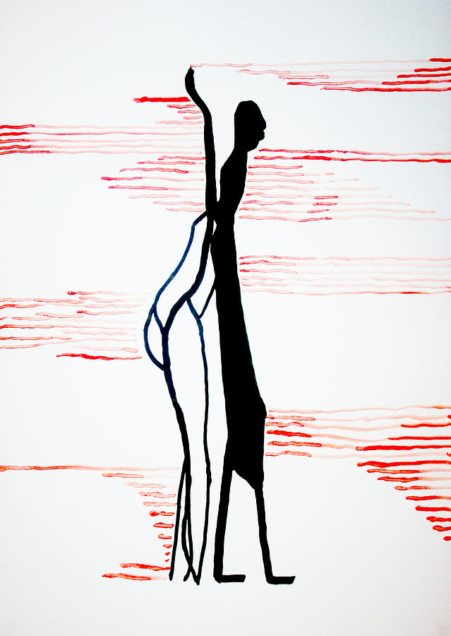 Dinka Lady - South Sudan Painting  - Dinka Lady - South Sudan Fine Art Print