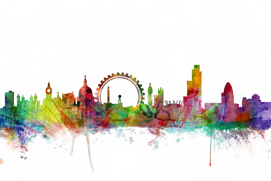 London England Skyline Digital Art