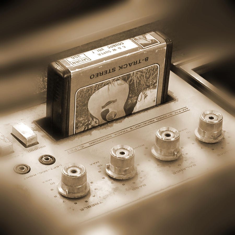 8-track Tape Player Photograph  - 8-track Tape Player Fine Art Print