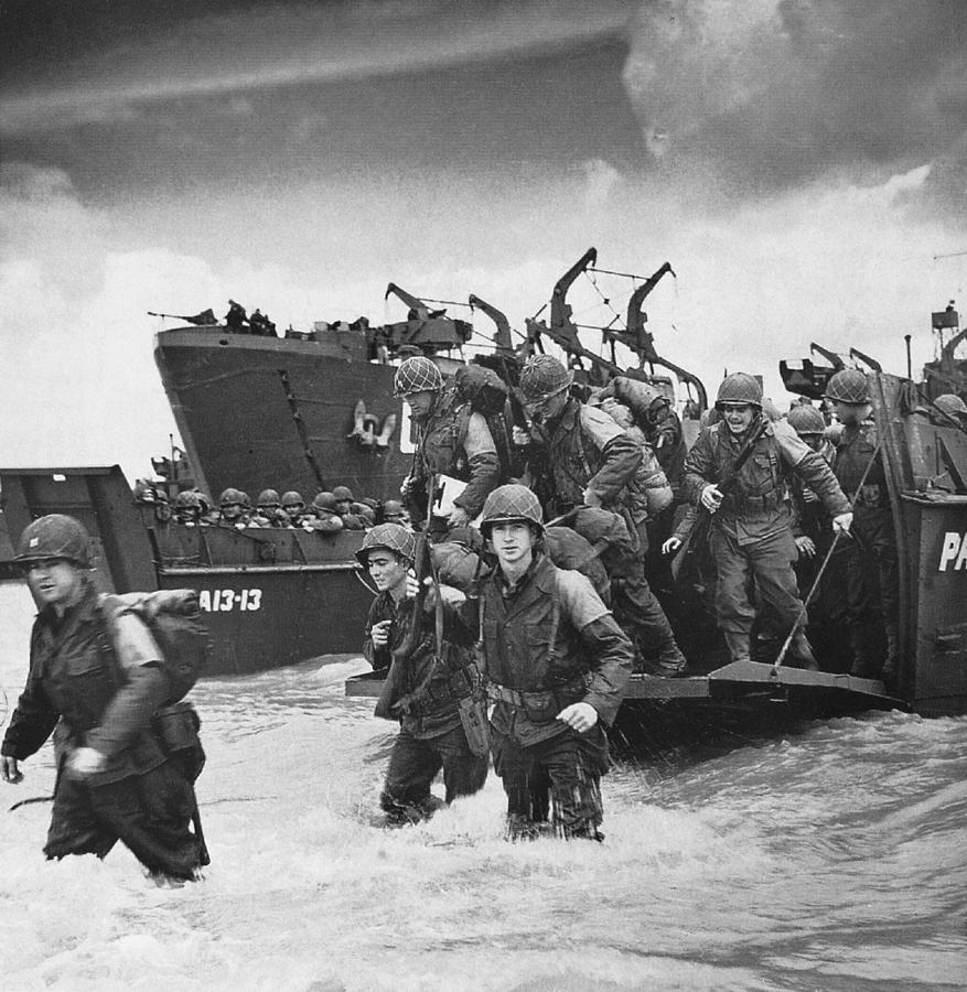 World War II: D-day, 1944 Photograph by Granger