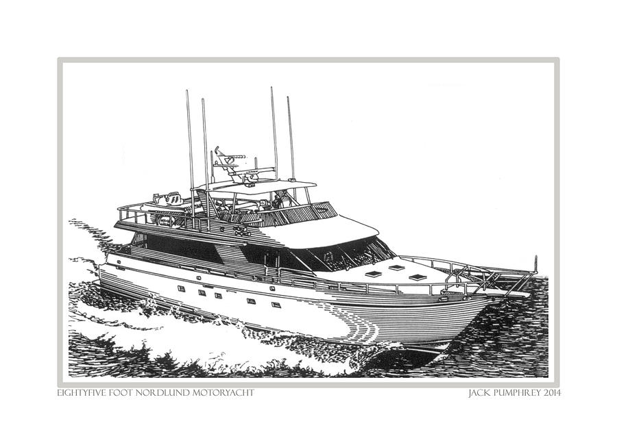 85 Foot Custom Nordlund Motoryacht Drawing