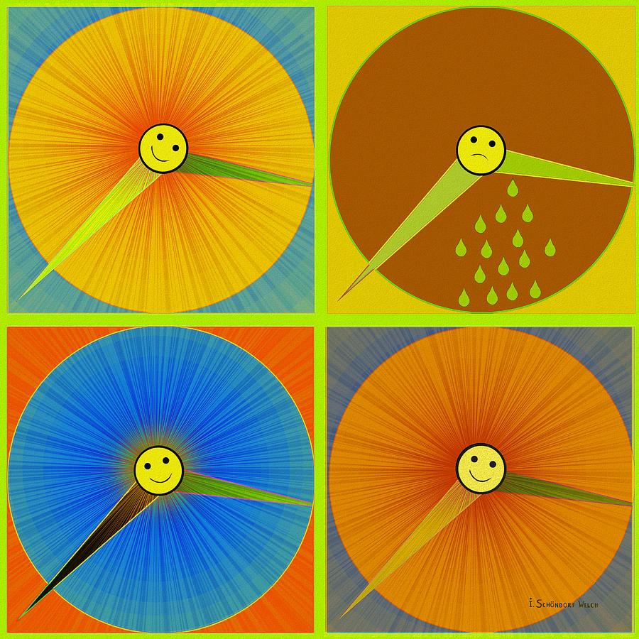 880 - Rain And Shine Clocks  Digital Art