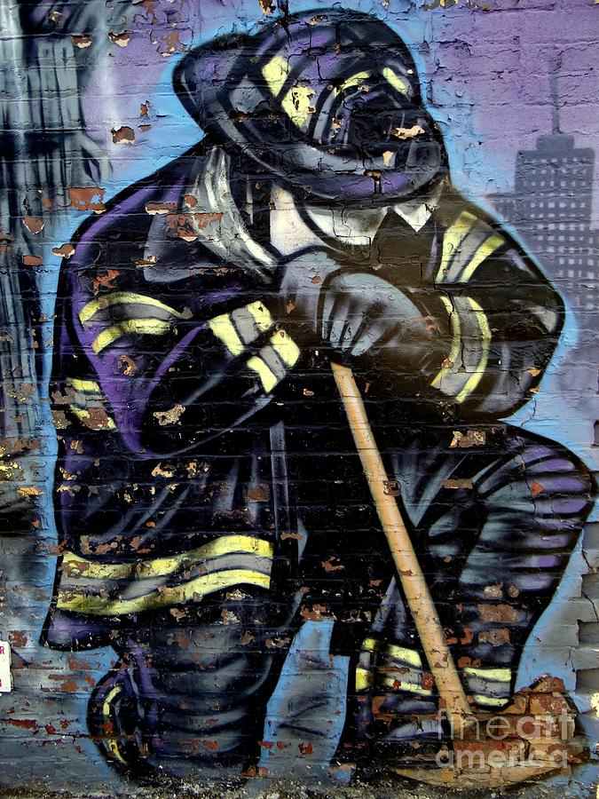 9-11 Hero Photograph  - 9-11 Hero Fine Art Print