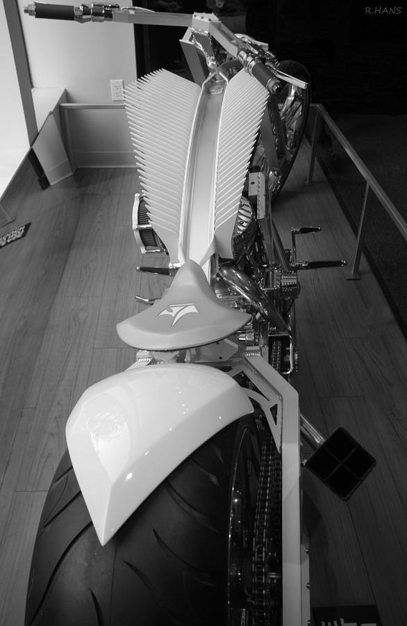 9/11 Memorial Bike In Black And White Photograph