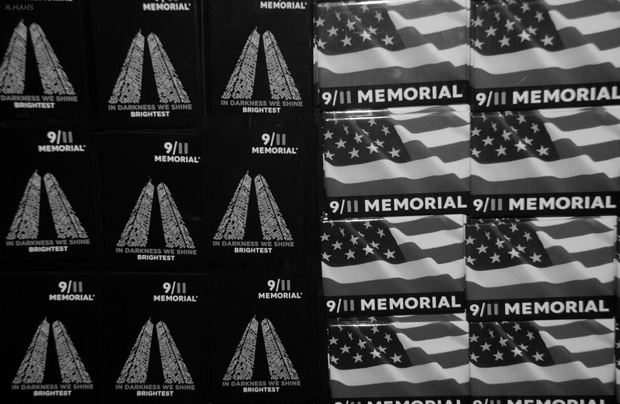 Wtc Photograph - 9/11 Memorial For Sale In Black And White by Rob Hans