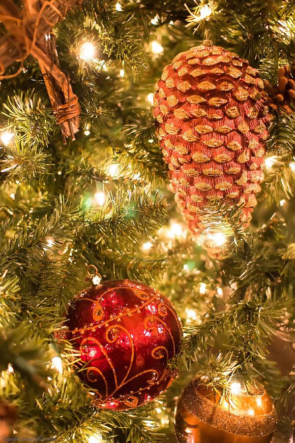 Christmas Tree Ornaments Photograph