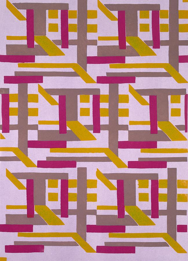 Constructivist Painting - Design From Nouvelles Compositions Decoratives by Serge Gladky