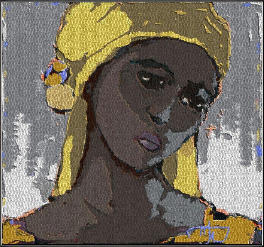 Portrait Painting - Dzhalma by Pemaro