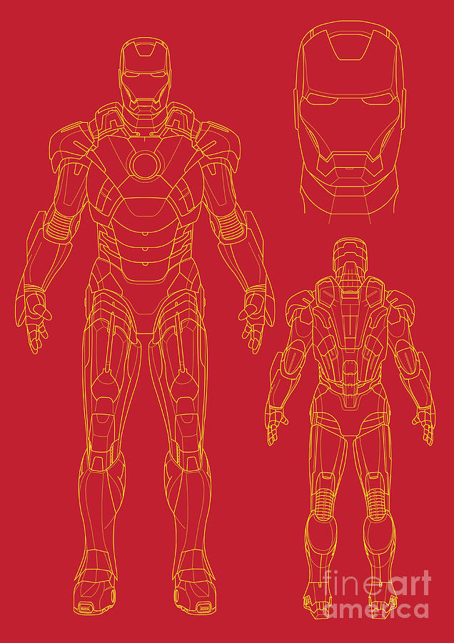 Iron Man Digital Art  - Iron Man Fine Art Print