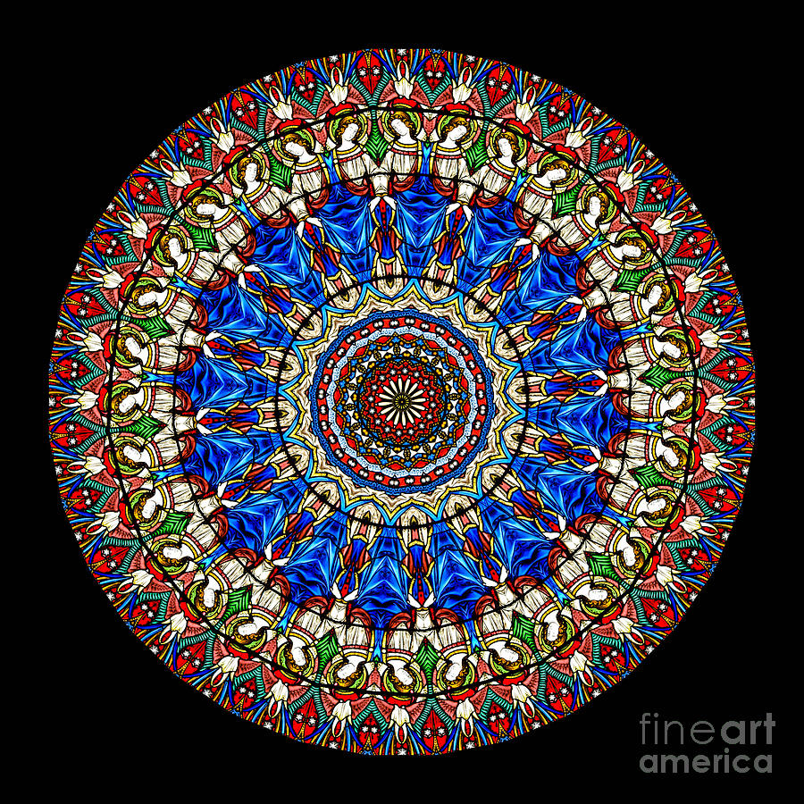 Kaleidoscope Stained Glass Window Series Photograph