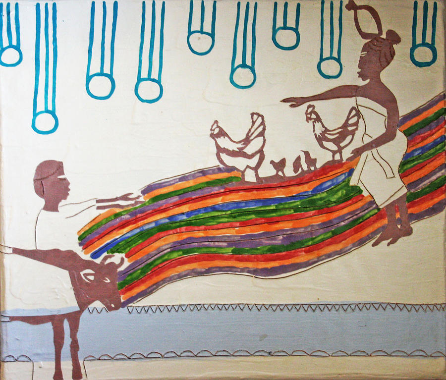 Jesus Painting - Kintu And Nambi by Gloria Ssali