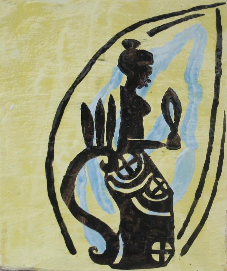 Jesus Ceramic Art - The Wise Virgin by Gloria Ssali