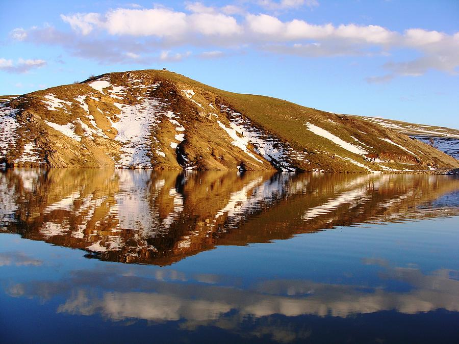 Photograph - Water Reflection by Faouzi Taleb
