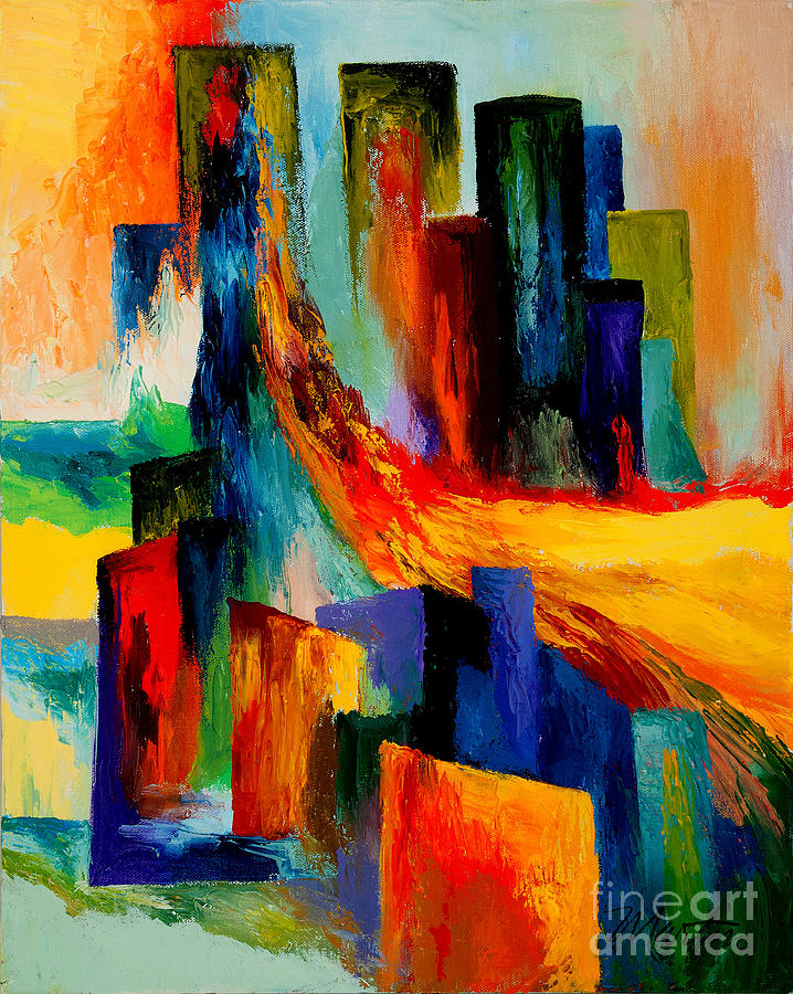 911 Revisited Painting  - 911 Revisited Fine Art Print