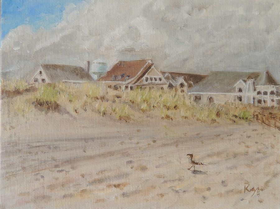 98th Street Beach Stone Harbor New Jersey Painting