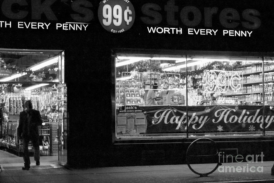 New York Photograph - 99 Cents - Worth Every Penny by Miriam Danar