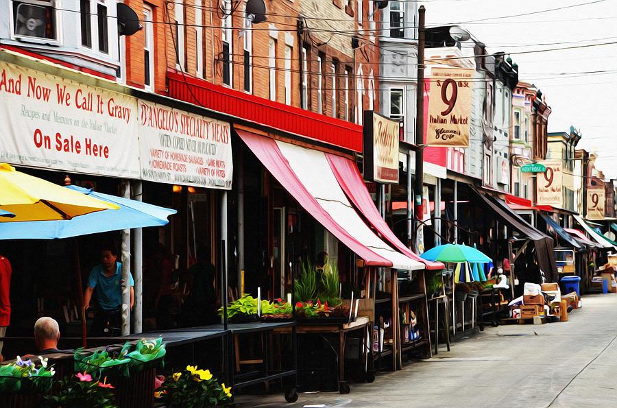 9th Street Italian Market Philadelphia Photograph
