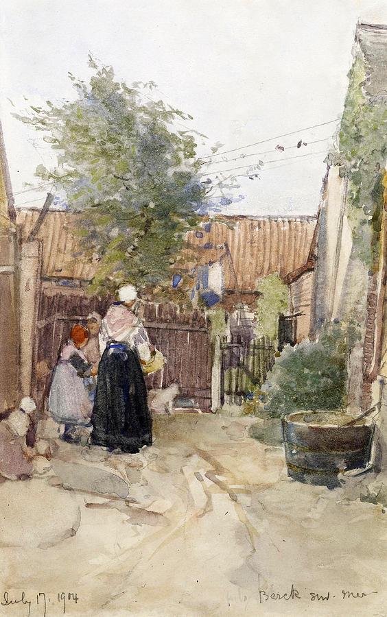 A Back Garden Berck Sur Mer Painting