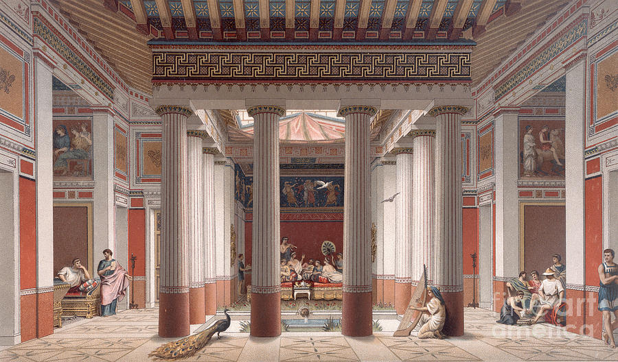 A Banquet In Ancient Greece Painting
