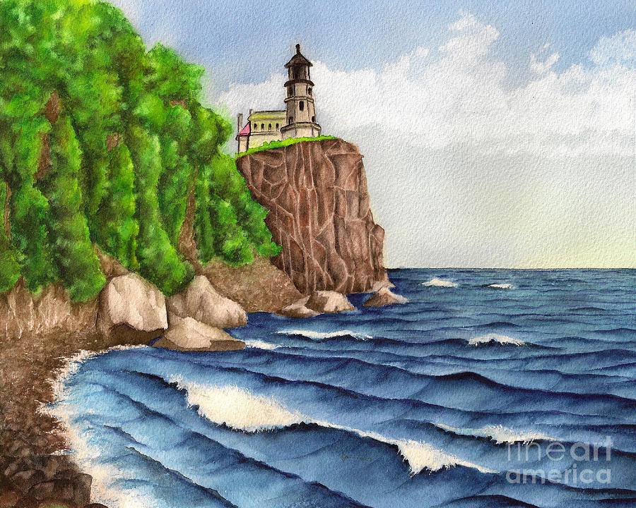 A Beacon To Sailors Painting  - A Beacon To Sailors Fine Art Print