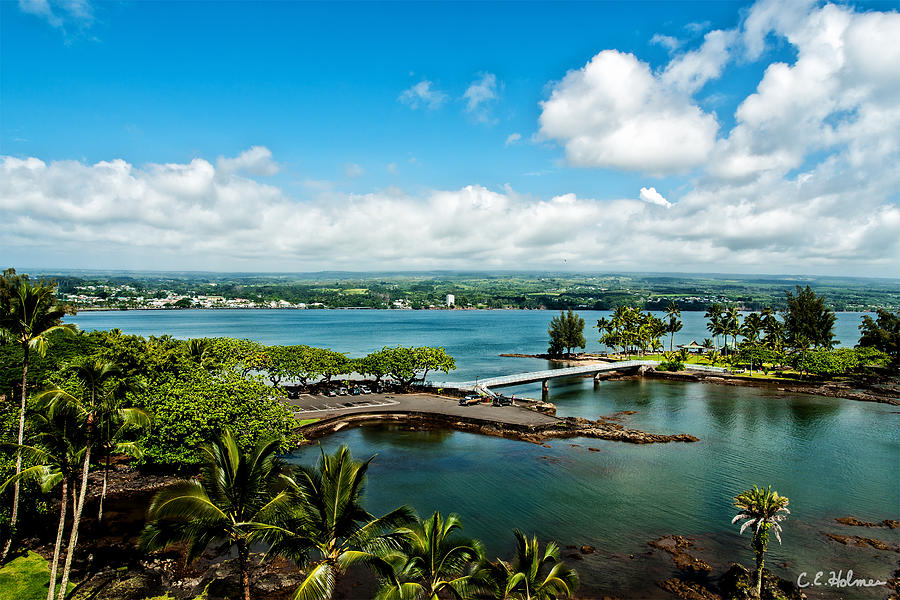A Beautiful Day Over Hilo Bay Photograph