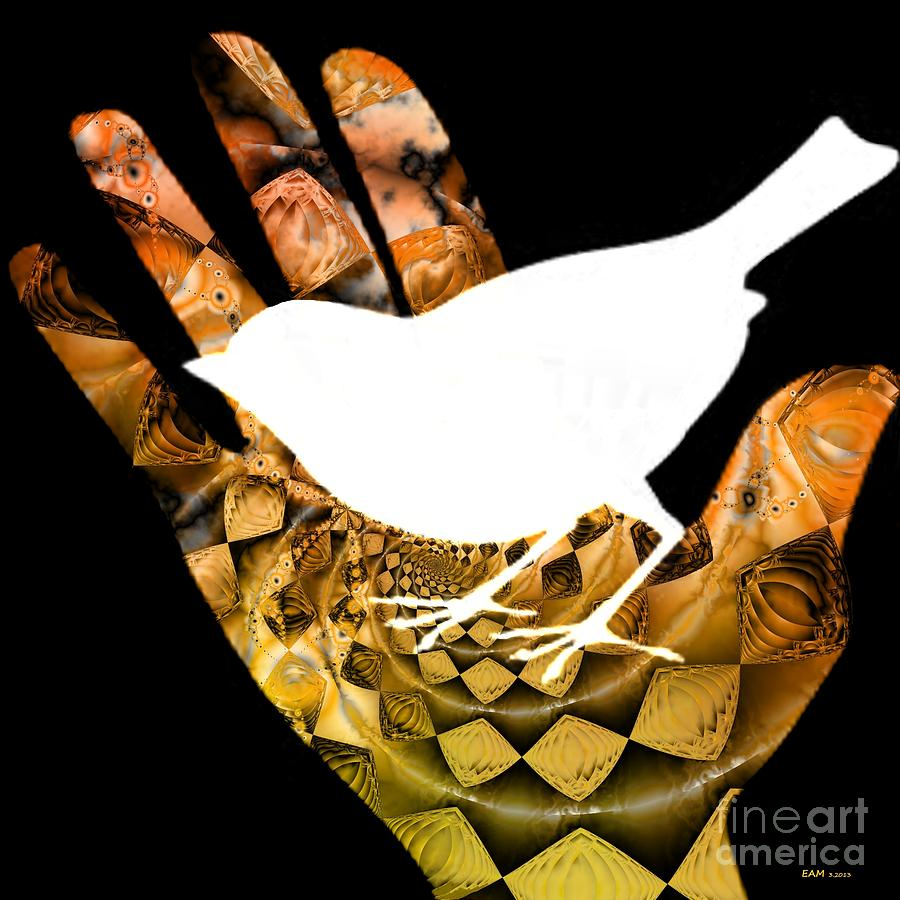 A Bird In The Hand Is Worth Two In The Bush  Digital Art