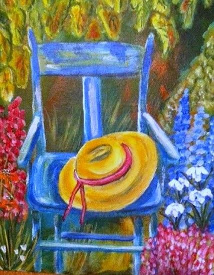 Blue Chair  Painting - A Blue Chair by Belinda Lawson