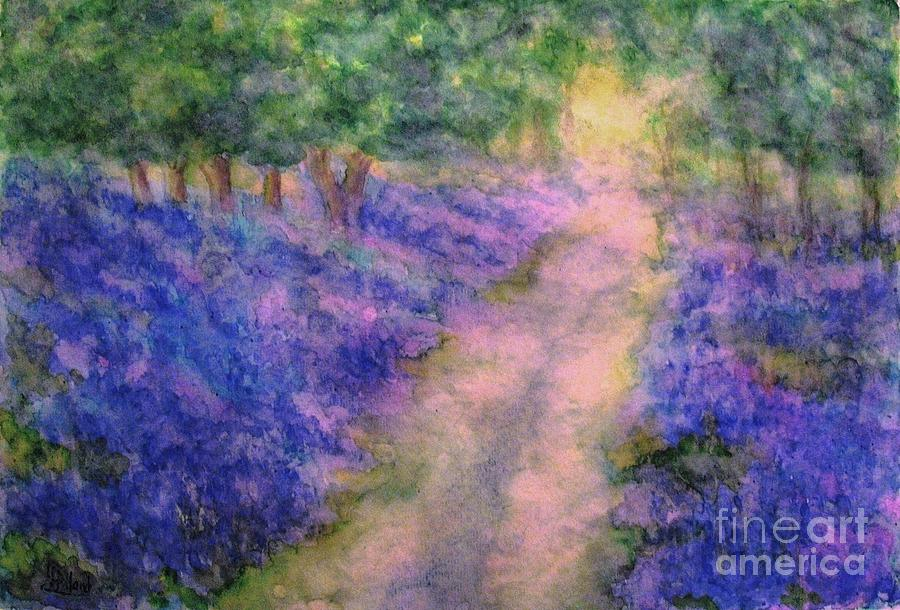 A Bluebell Carpet Painting  - A Bluebell Carpet Fine Art Print