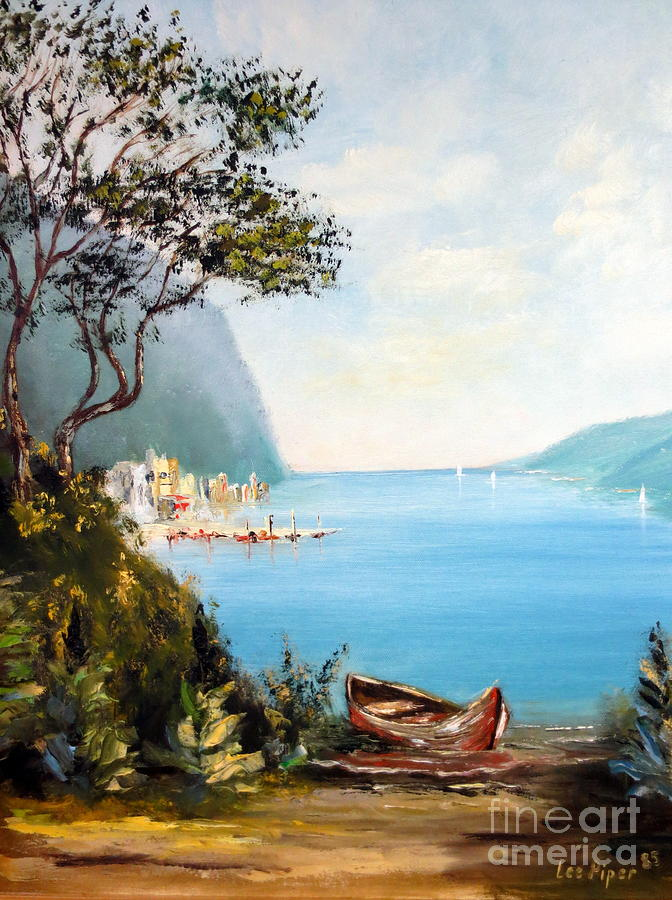 A Boat On The Beach Painting