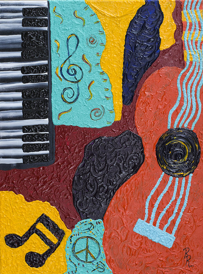 Music Painting - A Bold Session by Robin Hillman