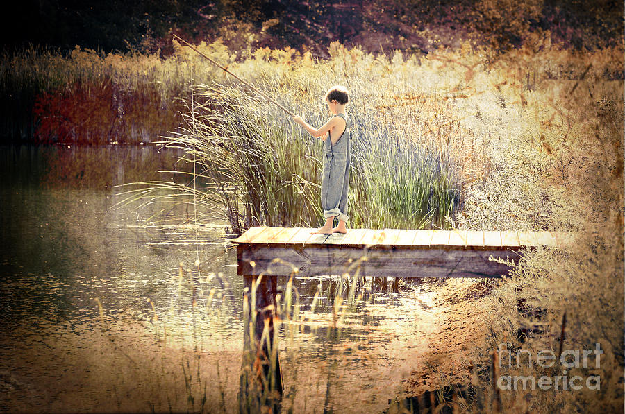 A Boy Fishing Photograph