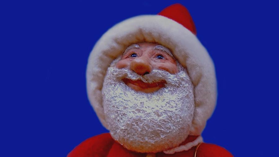 Santa Painting - A Breath Of Fresh Air by David Wiles