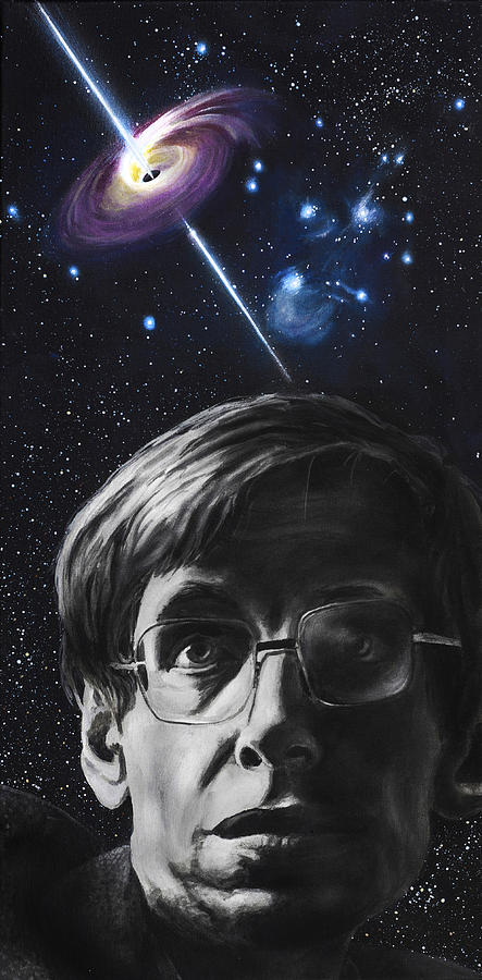 A Brief History Of Time- Stephen Hawking Painting