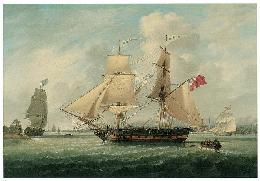 A Brig Entering Liverpool Painting  - A Brig Entering Liverpool Fine Art Print