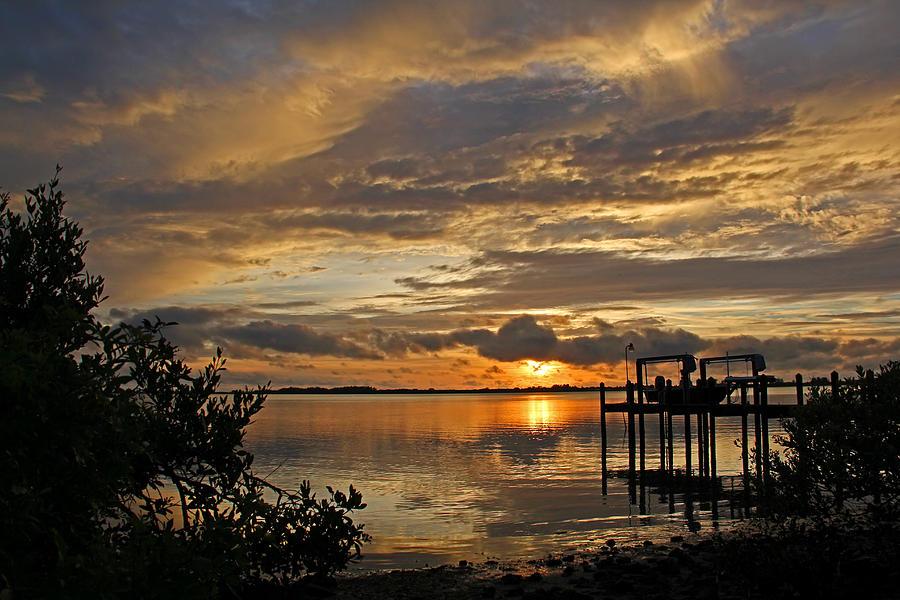 A Brooding Sunset Sky Photograph
