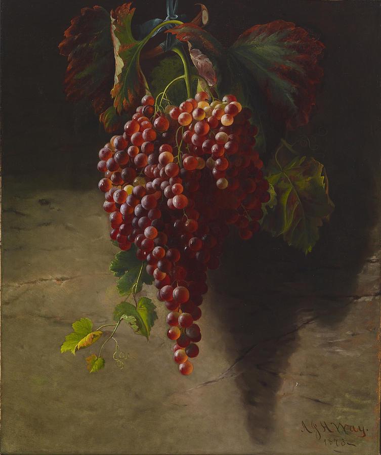 A Bunch Of Grapes Digital Art