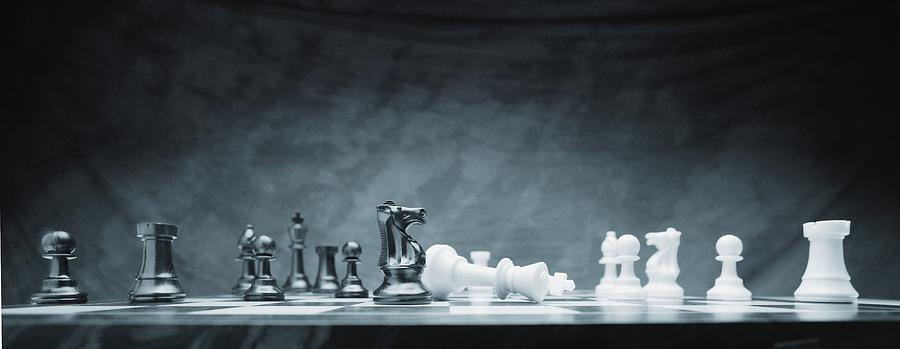 A Chess Game Photograph  - A Chess Game Fine Art Print