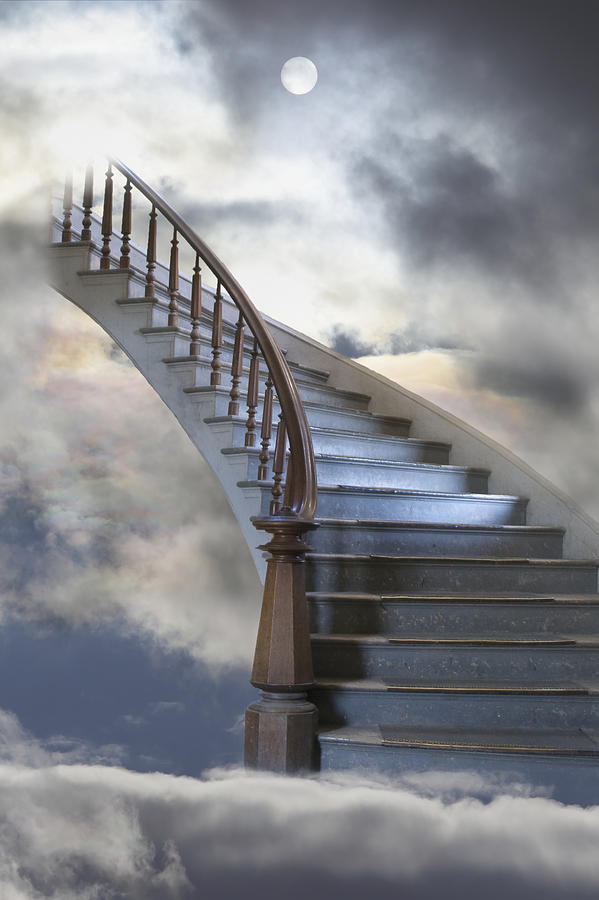 A Composite Entitled Staircase Photograph  - A Composite Entitled Staircase Fine Art Print