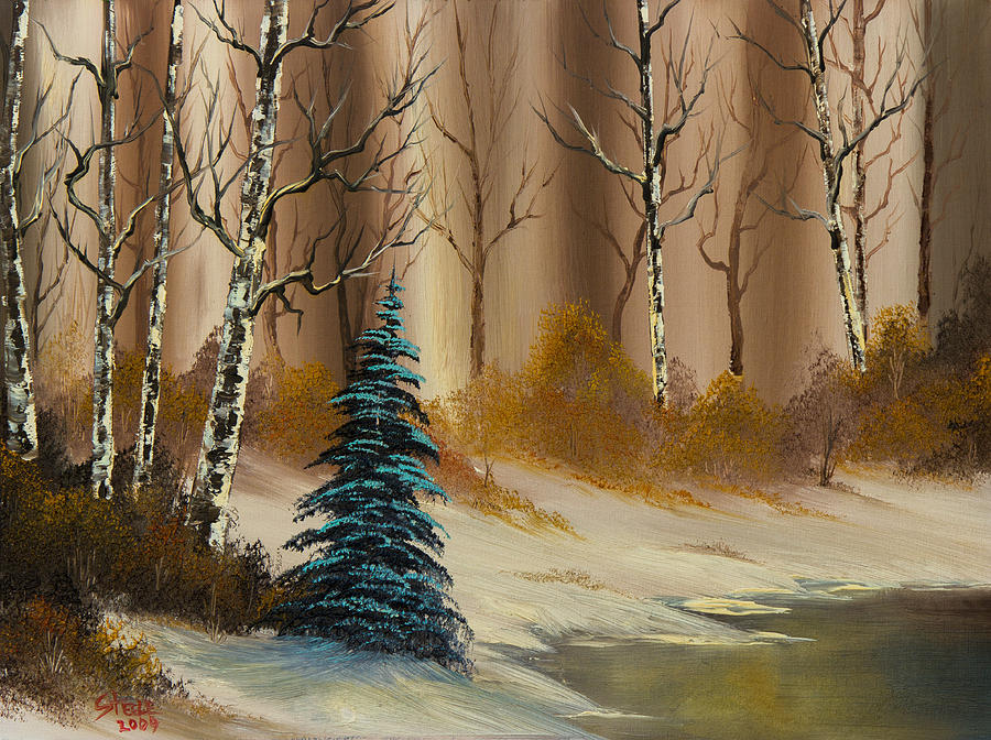 A Copper Winter Painting