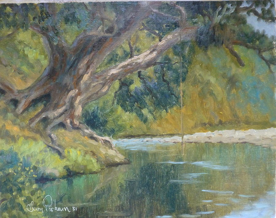 Rivers Painting - A Coramandel Stream by Terry Perham