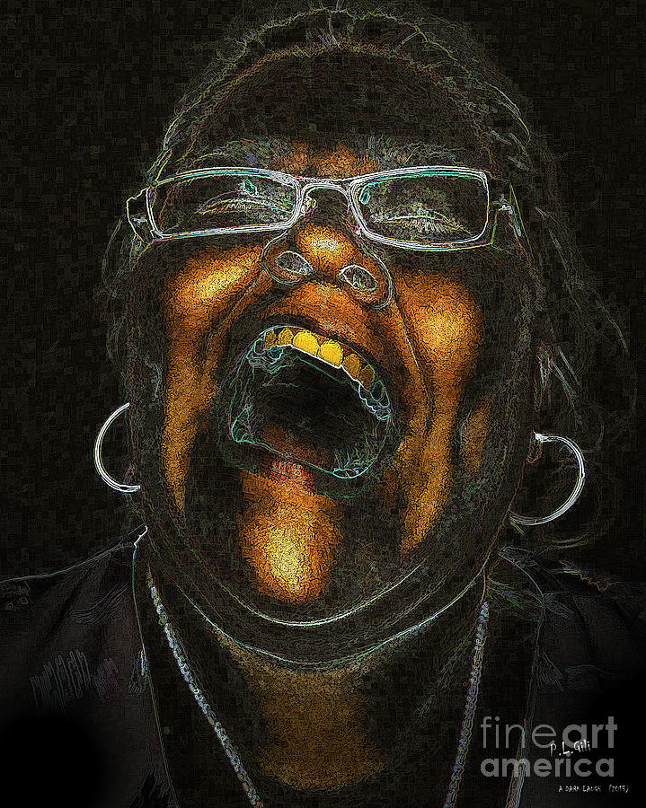 A Dark Laugh Digital Art